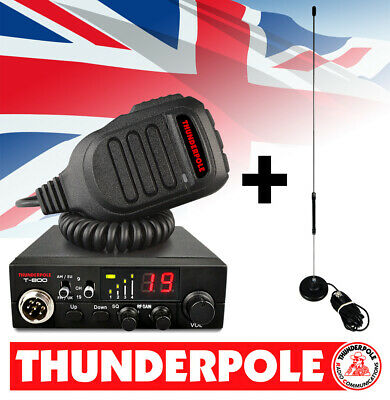 Thunderpole T-800 + Apollo Mag Kit | 12v AM/FM CB Radio & Antenna Pack