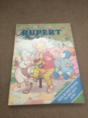 Rupert Daily Express Annual 1990 No. 55 Collectible Story Book 70th Anniversary