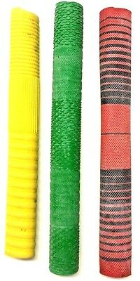 Cricket Bat Grip Replacement Handle Rubber Pack of 3 Mixed Colour CLEARANCE