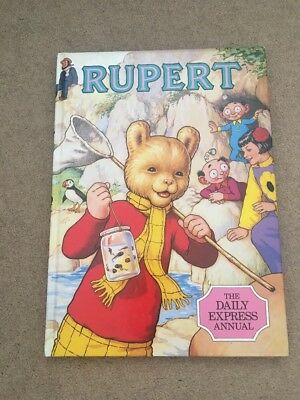 Rupert Daily Express Annual 1986 Collectible Story Book