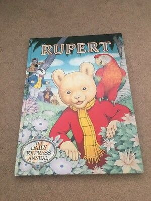 Rupert Daily Express Annual 1987 Collectible Story Book