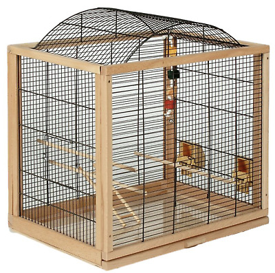 Beautiful Wooden Budgies Canaries Bird Aviary Robust Cage Cages w Accessories