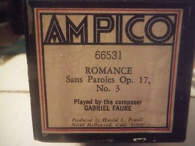 Ampico roll-Romance Sans Paroles Op.17 No.3    66531