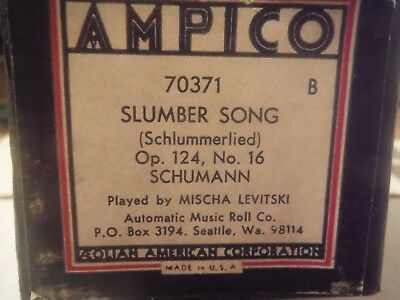 Ampico roll--Slumber Song   OP>124 Schumann     Re-cut AMR