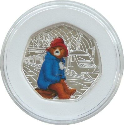 2018 Royal Mint Paddington Bear Error 50p Fifty Pence Silver Proof Coin Box Coa