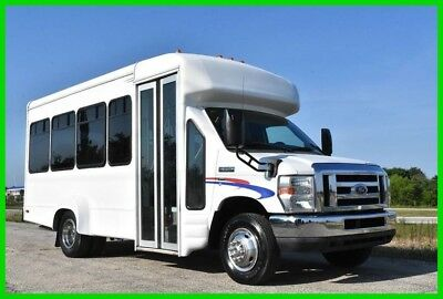 2010 Ford E-350 14 Passenger Shuttlebus w Gas Engine, Cold AC, Stock#15899