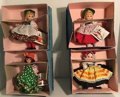 Madame Alexander International Dolls with Boxes...LOT OF 4