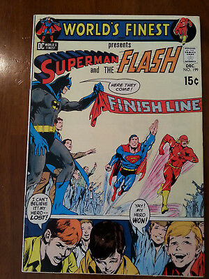world's finest comics  #199 3rd Superman vs Flash race concludes key issue