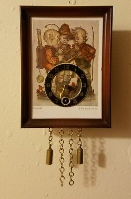 Vintage Hummel Miniature Wall Clock Decor Germany Ars sacra 9636 original Hummel