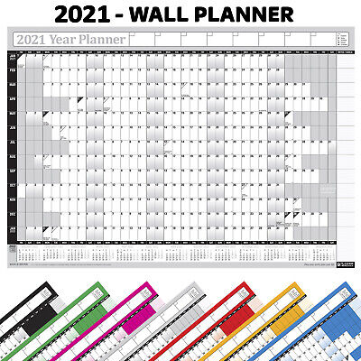 2019 Wall Calendar Year Yearly Plan Planner Chart Home/Office/Work Jan-Dec GREY