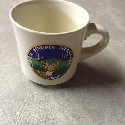 Vintage Boy Scout mug General Herkimer Council , Camp Russell.