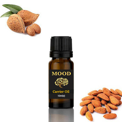 Sweet Almond Oil 10ml Natural Massage Carrier Oil Cold Pressed 100% Pure