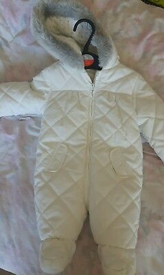 baby boy baby girl all in one coat snowsuit unisex 0-3 months