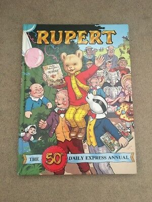 Rupert Daily Express Annual 1985 Collectible Story Book 50th