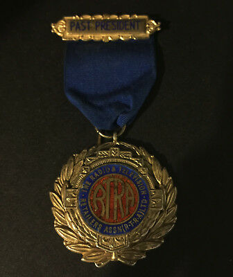 Radio And Television Retailers Association RTRA Past President Medal 1958/9 Rare
