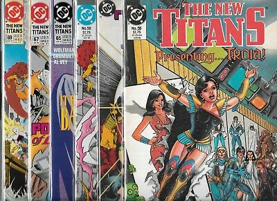 The New Titans Lot Of 6 - #55 #57 #58 #65 #67 #69 (Vf/nm) Teen Titans