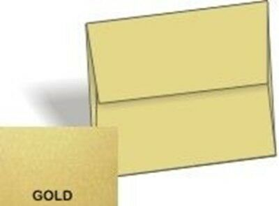 Metallic Envelopes Gold - A9 Envelopes (5.75-x-8.75) - 25/PK