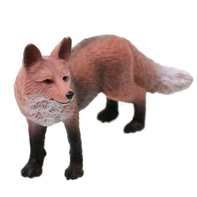 Realistic Red Fox Wildlife Animal Model Figure Kids Toy Gift Home Decor