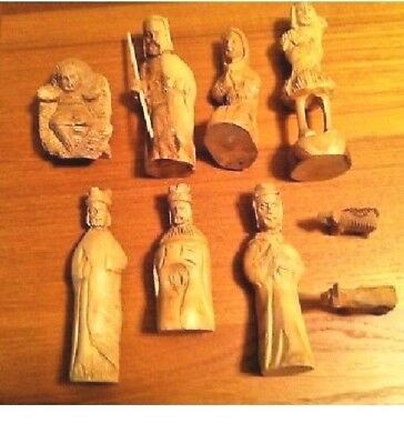 Olive Wood Hand-Carved 9-piece Nativity Set from the Holy Land
