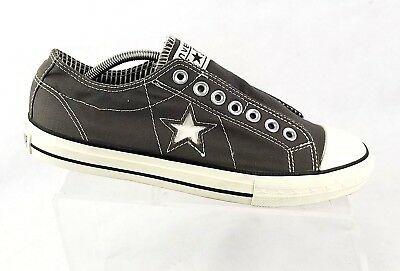 Converse One Star Women Size 9 / 40  No Laces Black Canvas Low Top Shoes