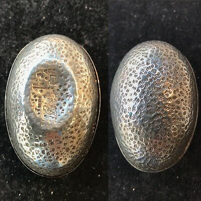 Antique Vintage Solid Silver Gold Gilded Egg Man Cutting The Log Very Rare Piece