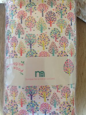 Mothercare Norwegian Wood Cot Bumper Also For A Cot Bed **bnip **
