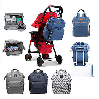Mummy Maternity Nappy Diaper Baby Bag Large Capacity Travel Backpack Waterproof