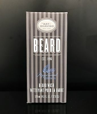 The Art of Shaving PEPPERMINT BEARD WASH 4 OZ (New in Box)
