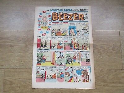 """THE BEEZER COMIC, No 282 - JUNE 10th 1961 Very Good Condition """"Laughs All Round"""