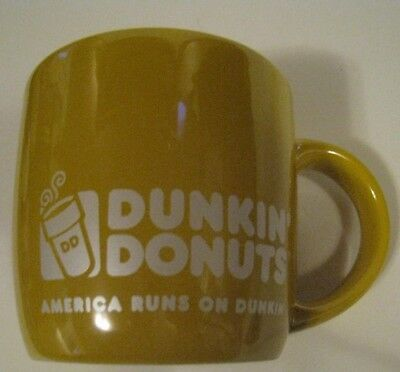2014 Dunkin Donuts GOLDEN YELLOW Coffee CUP MUG