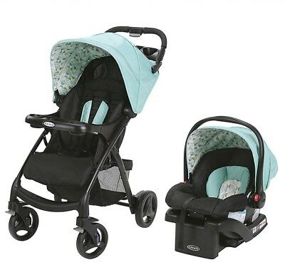 Graco Verb Click Connect Infant Car Seat, Base, & Stroller Travel System, Groove