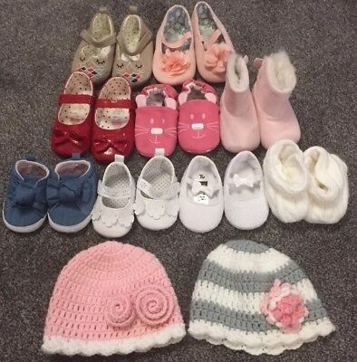 Girls Baby Pram Shoes and Hats