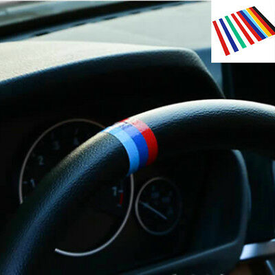 2x PERFORMANCE Sticker for BMW M Steering Wheel Flag Decal Vinyl Emblem M3 M5 M6