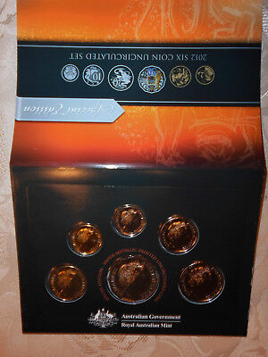 2012 SIX Coin Uncirculated Set