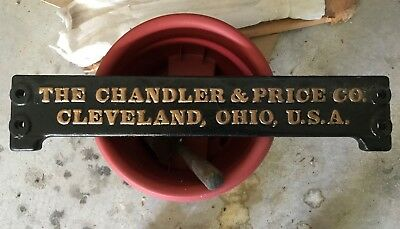 Chandler & Price Letterpress NAMEPLATE