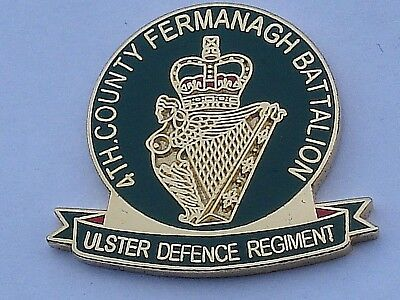 4th county fermanagh ulster defence regiment udr Enamel badge Military British