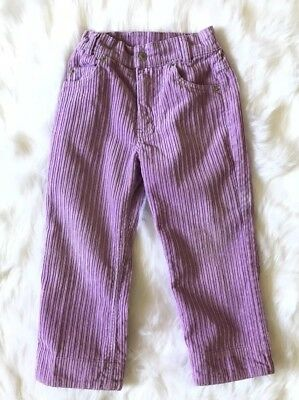 Vtg Levis Girl Toddler Corduroy Purple Pants 4T