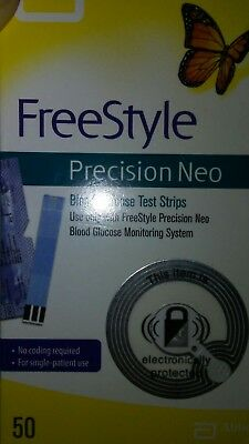 Freestyle Precision Neo 50 ct. Expired but mint condition box blood sugar test s