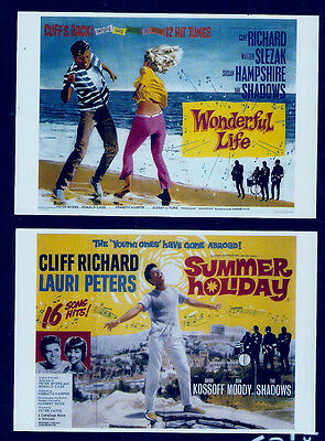 CLIFF RICHARD,Two  POSTCARDS from Films.Summer Holiday/Wonderful life.repro.New