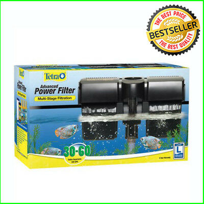 Aquarium Whisper Power Filter 30 60 Gallon Tanks Multi Stage Filtration System