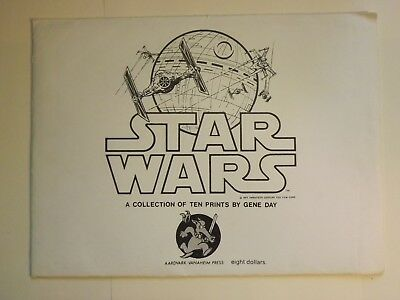 Vintage Star Wars Gene Day Collection of 10 Prints - EXTREMELY RARE!!!