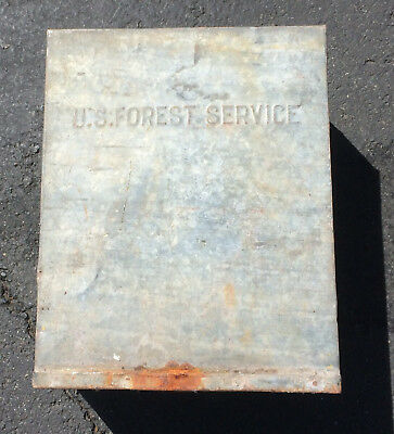 Vintage US Forest Service WATER CAN 1940's SMOKEY BEAR DodgePower Wagon Jeep