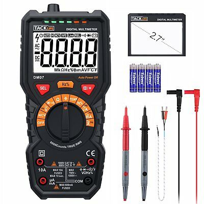 Multimeter, Tacklife DM07 6000 Counts Auto-Ranging Electrical Tester, AC/DC Volt