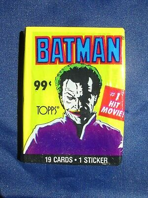 Vintage BATMAN #1 Hit Movie! Cards Sticker 20 Pack - Sealed