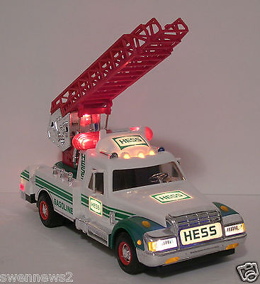 1994 Hess Rescue Truck with great sounds and lights-collectible-MINT-NIB