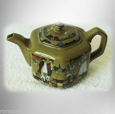 Buffalo Pottery - Deldare teapot - with town scenes FREE SHIPPING