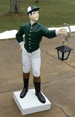 "Custom LAWN JOCKEY 44"" Concrete Statue (Possible FREE Delivery...ASK) Horse Race"