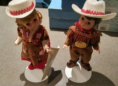 """Madame Alexander Doll-Grand Ole Opry Boy & Girl, 8""""H w/ Box and stands"""