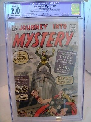 Journey into Mystery #85 CGC Restored 2.0 Kirby & Ditko 1st appearance of Loki