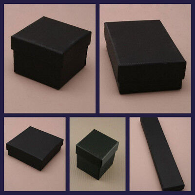 Empty Black Gift Box Ideal For Ring Necklace Watches Bracelets Jewellery Present